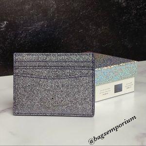 Kate Spade Glitter Credit Card Case Wallet